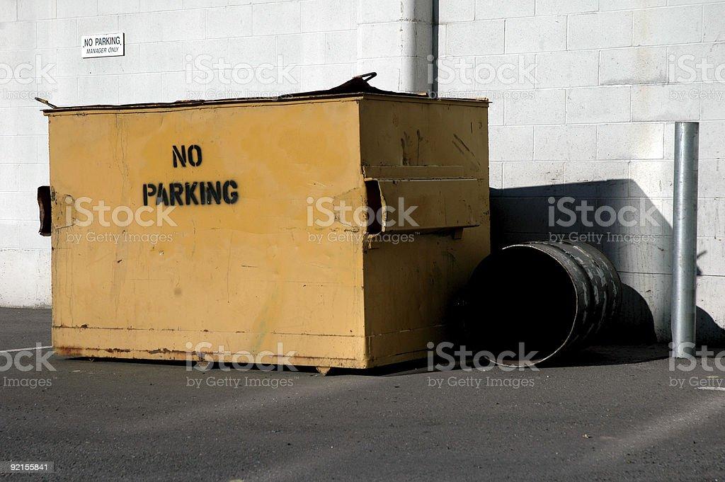 Yellow Garbage Bin royalty-free stock photo