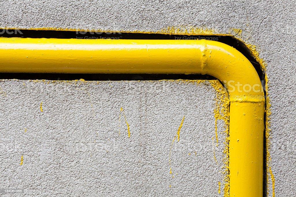 Yellow gas pipe stock photo