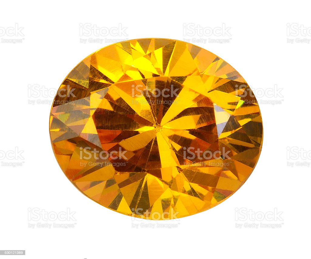 yellow gems on a white background stock photo