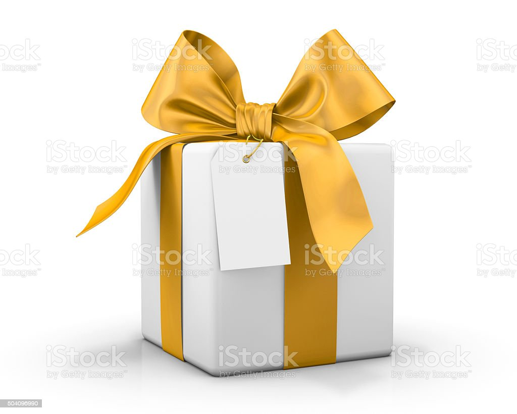 yellow gift box vector art illustration