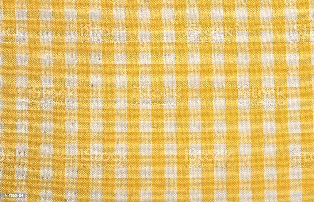 Yellow Gingham Background stock photo