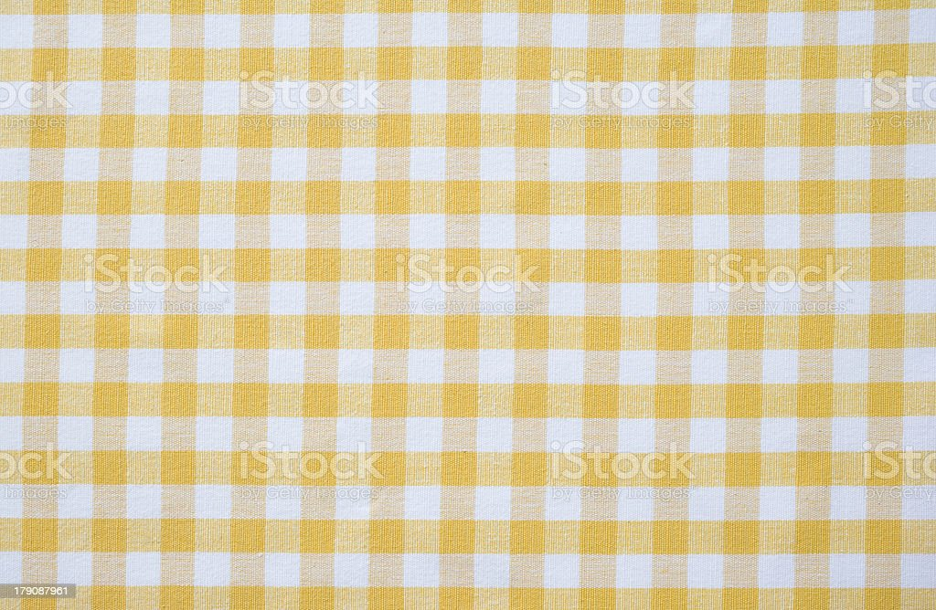 Yellow Gingham royalty-free stock photo