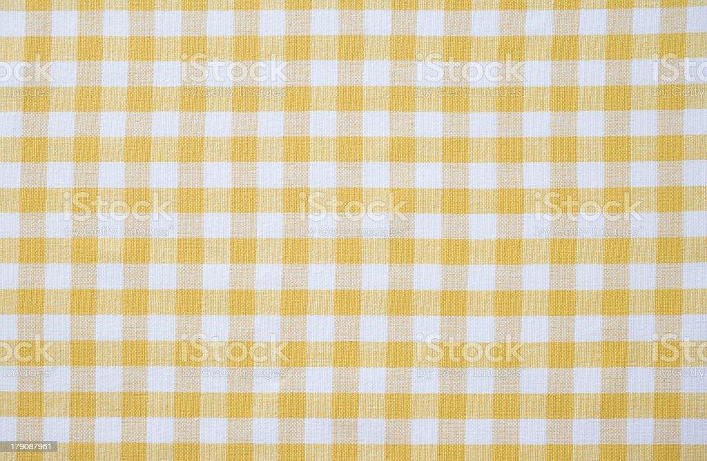 Yellow Gingham stock photo