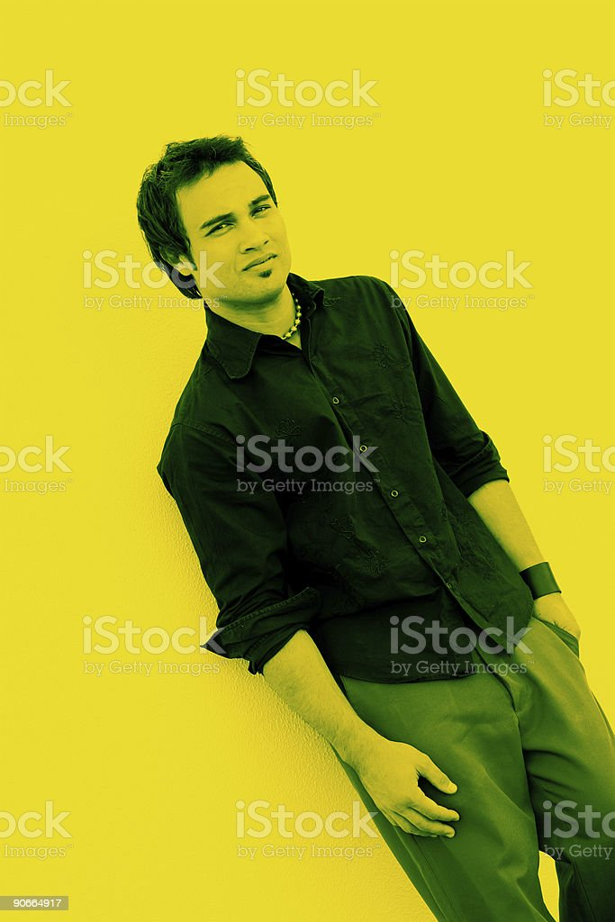 Yellow Glare royalty-free stock photo