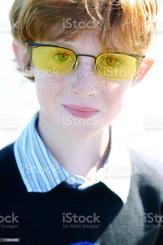 Yellow Glasses royalty-free stock photo