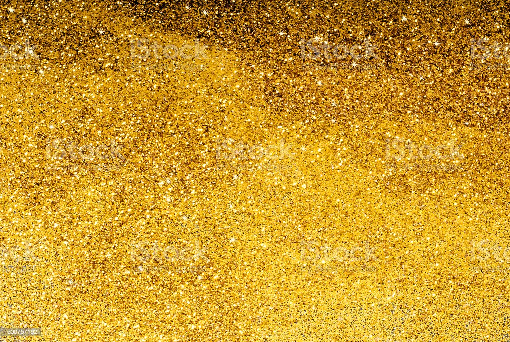 Yellow Glitter Background stock photo