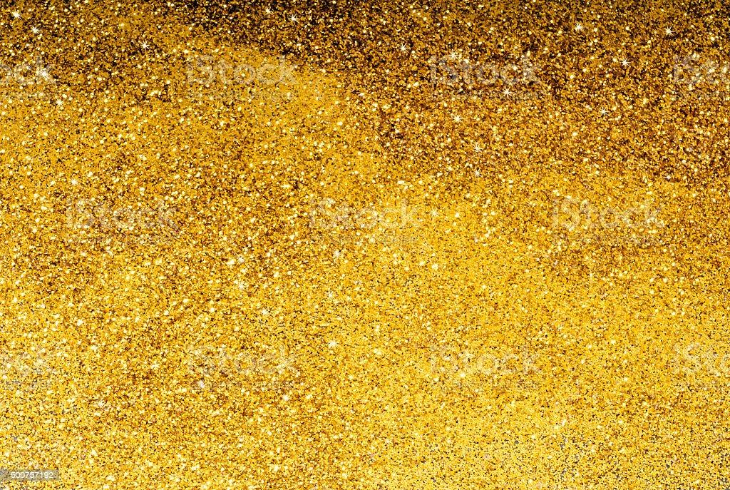 Yellow Glitter Background stock photo