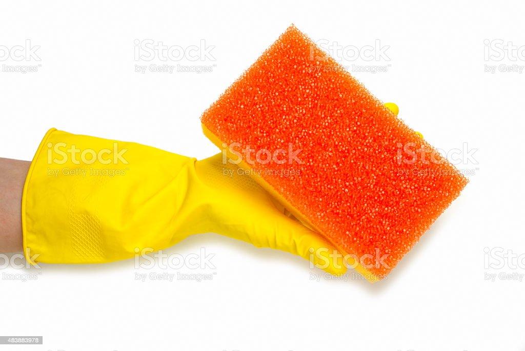 yellow glove royalty-free stock photo