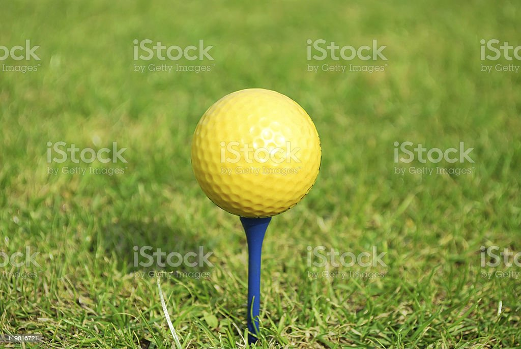 yellow golf ball royalty-free stock photo