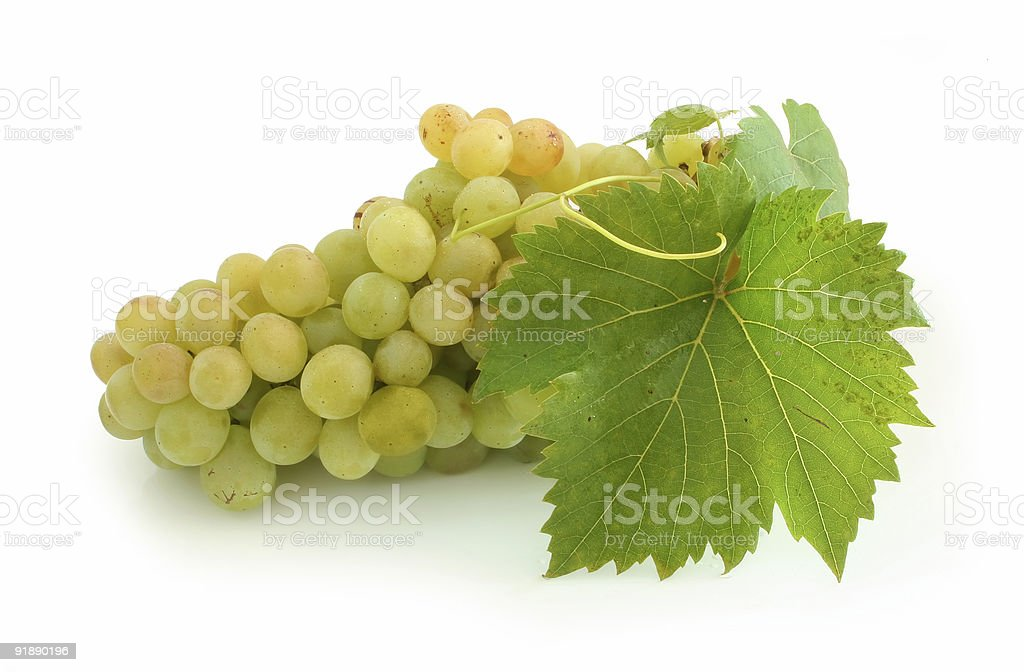 Yellow grape cluster royalty-free stock photo