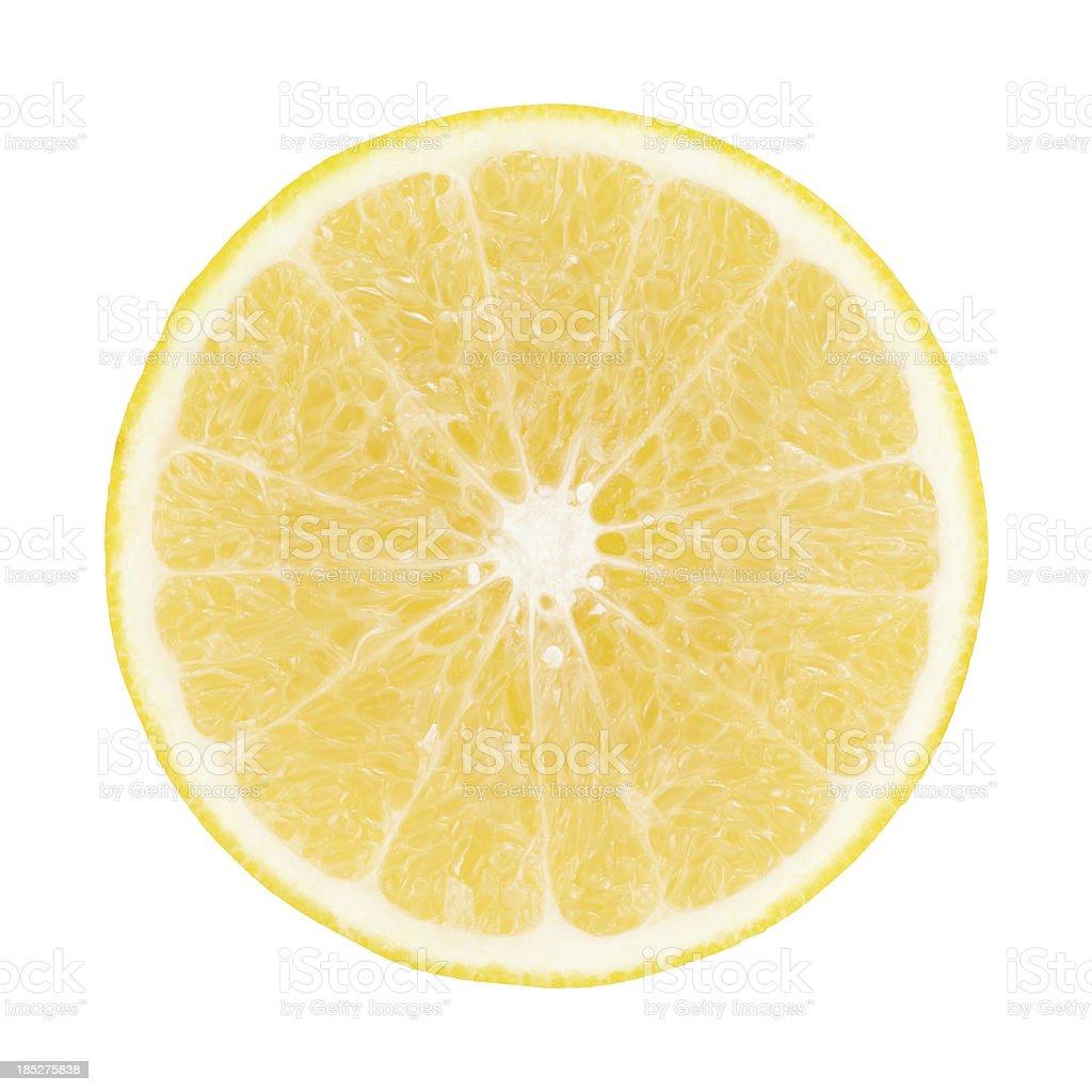 Yellow Grapefruit Portion On White royalty-free stock photo