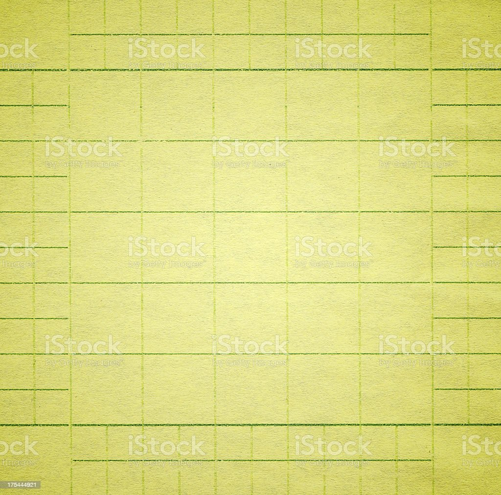 Yellow graph paper stock photo