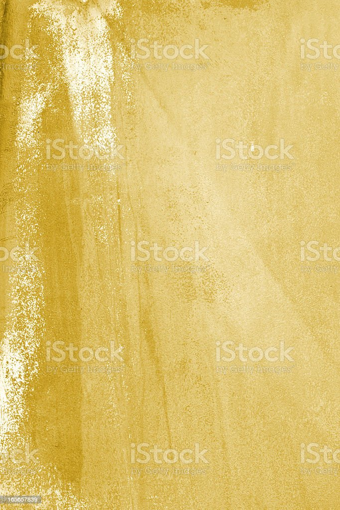 Yellow grunge background with erosion and stains royalty-free stock photo