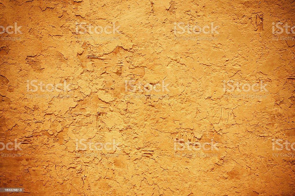 yellow grunge dirty wall (XXL) royalty-free stock photo