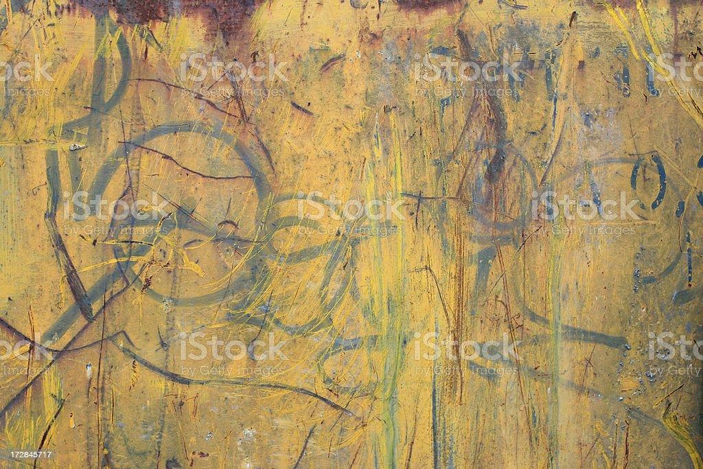 Yellow Grunge Dumpster Background royalty-free stock photo