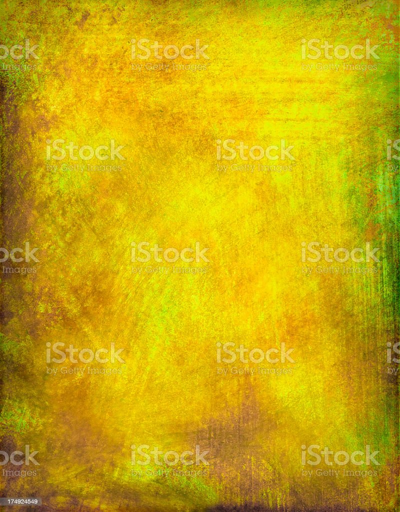Yellow Grunge Painted Background stock photo