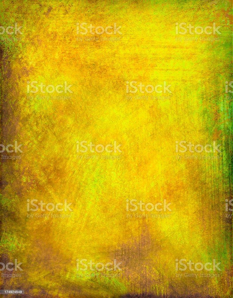 Yellow Grunge Painted Background stock photo