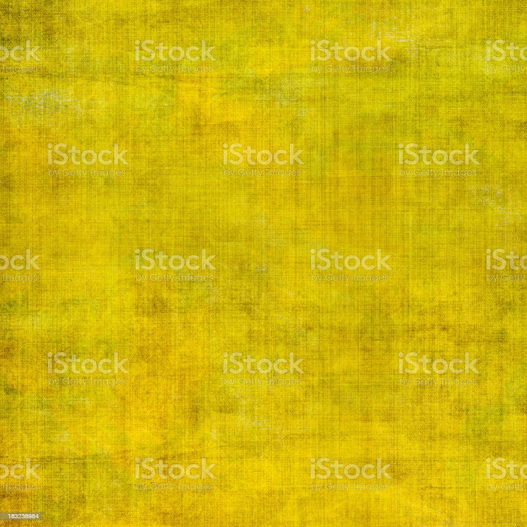 Yellow grunge paper or canvas textured background royalty-free stock photo