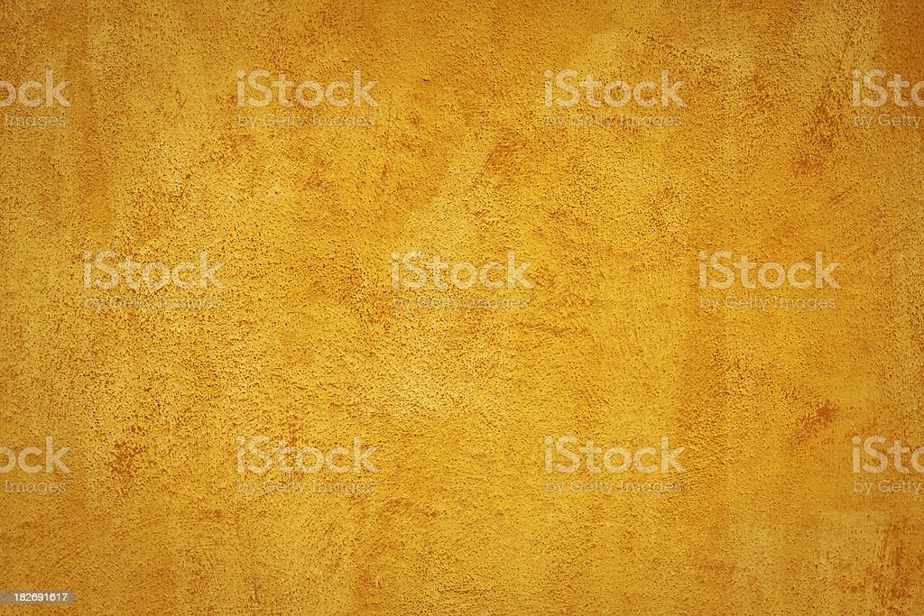 Yellow Grunge Plaster Wall, Texture Background royalty-free stock photo