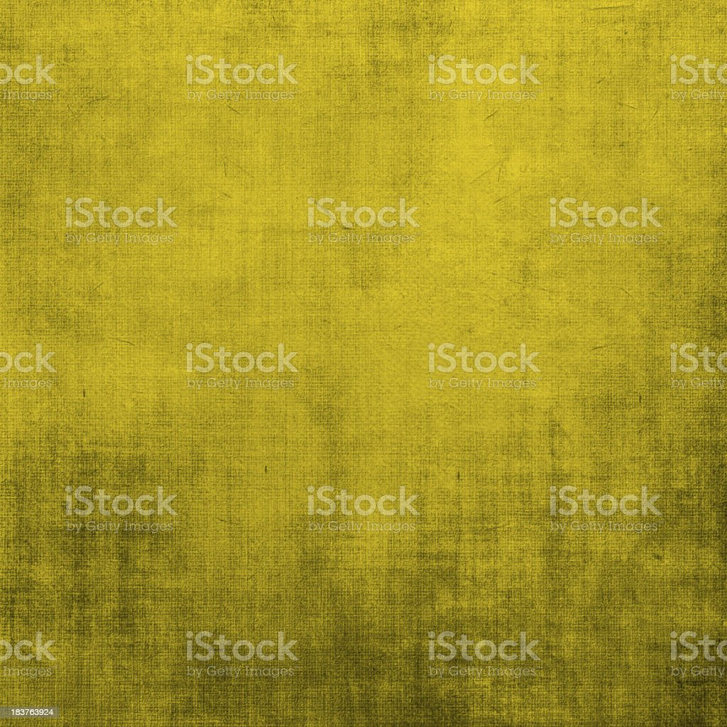 Yellow grunge texture background with canvas royalty-free stock photo