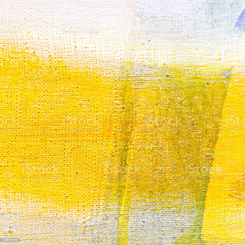 yellow hand painted canvas background stock photo