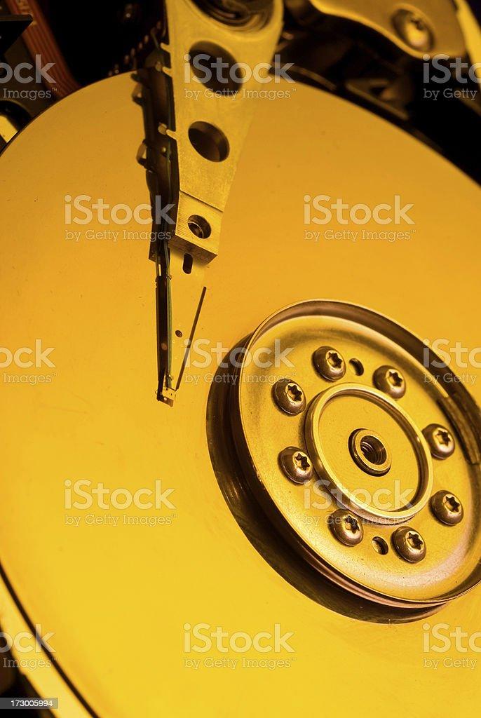 Yellow hard disk royalty-free stock photo