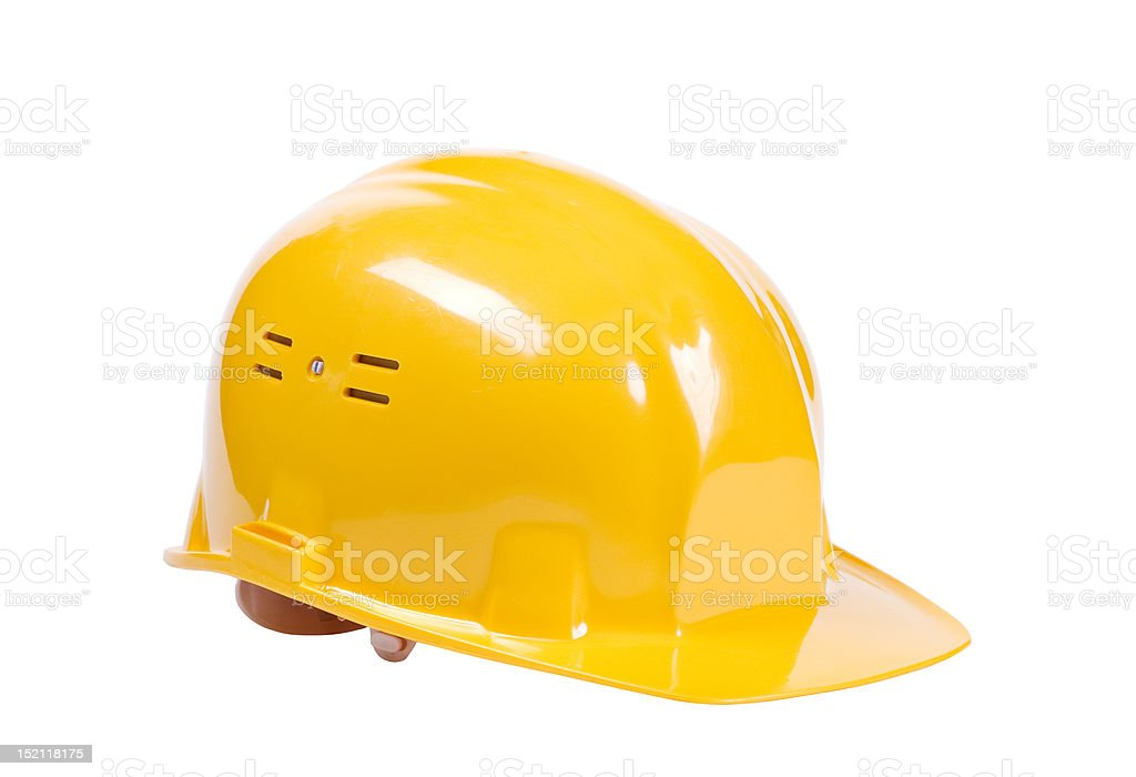 yellow hard hat royalty-free stock photo