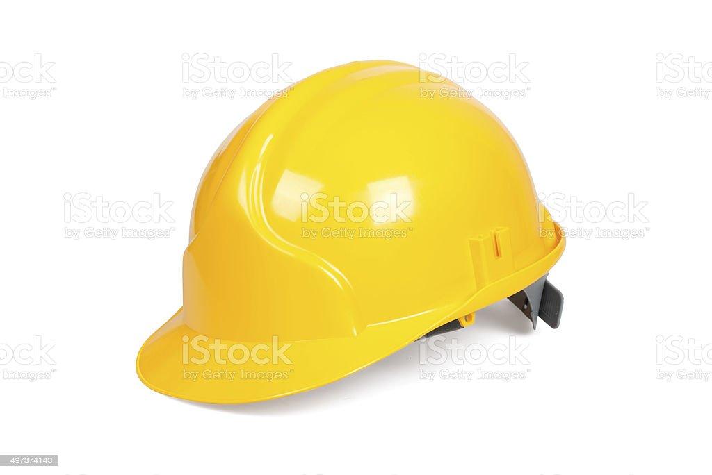 Yellow hard hat stock photo