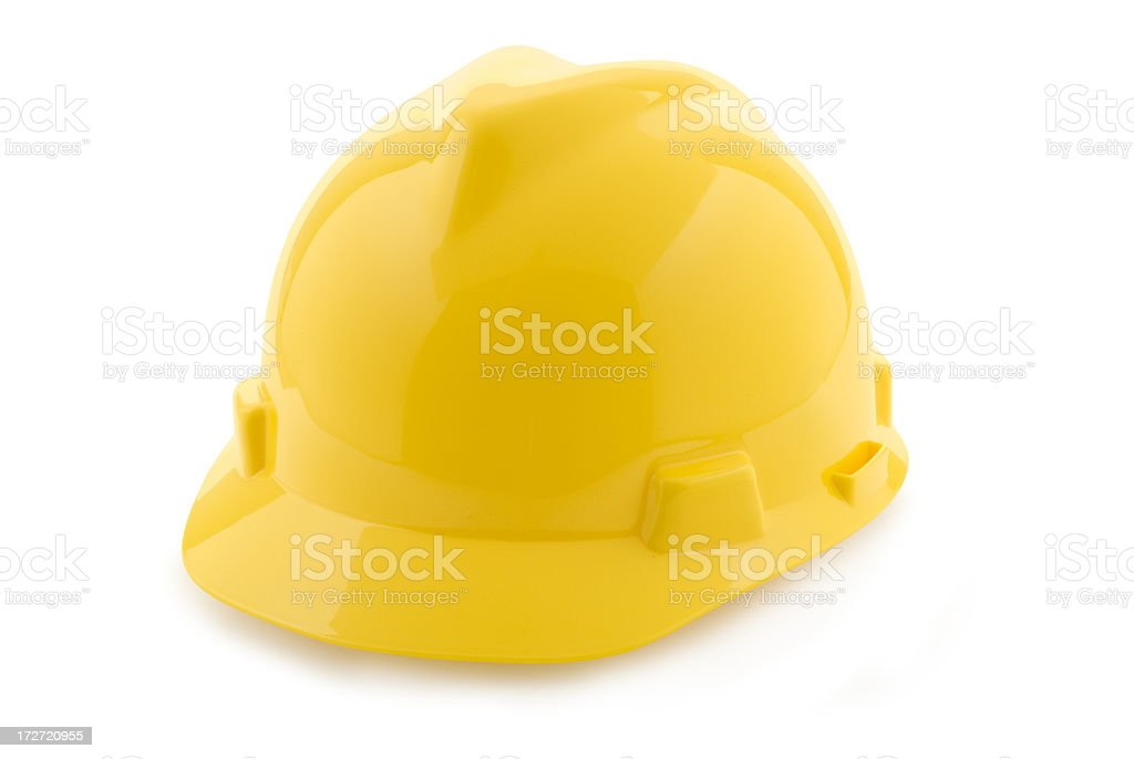 Yellow Hard Hat with Clipping Path royalty-free stock photo