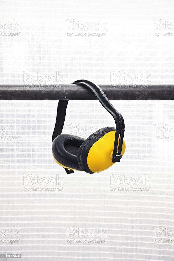 Yellow Hear guard royalty-free stock photo