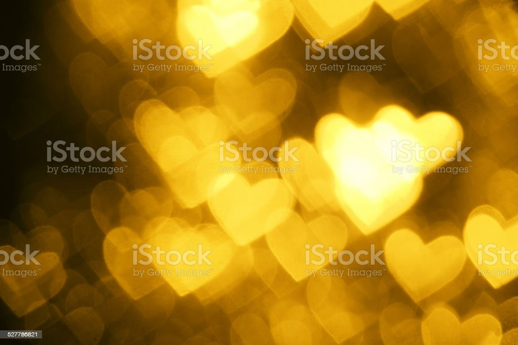 yellow heart shape holiday background stock photo