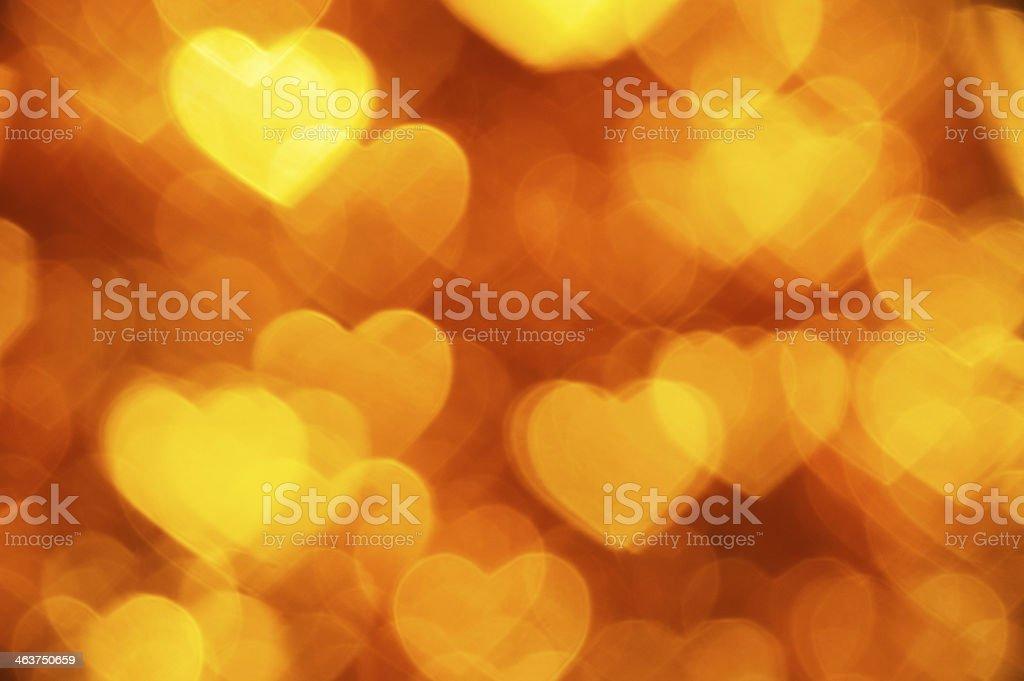 yellow hearts shape background stock photo