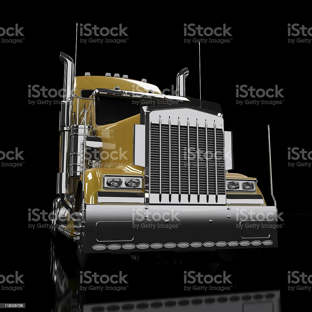 Yellow heavy truck royalty-free stock photo