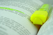 Yellow highlighter and text