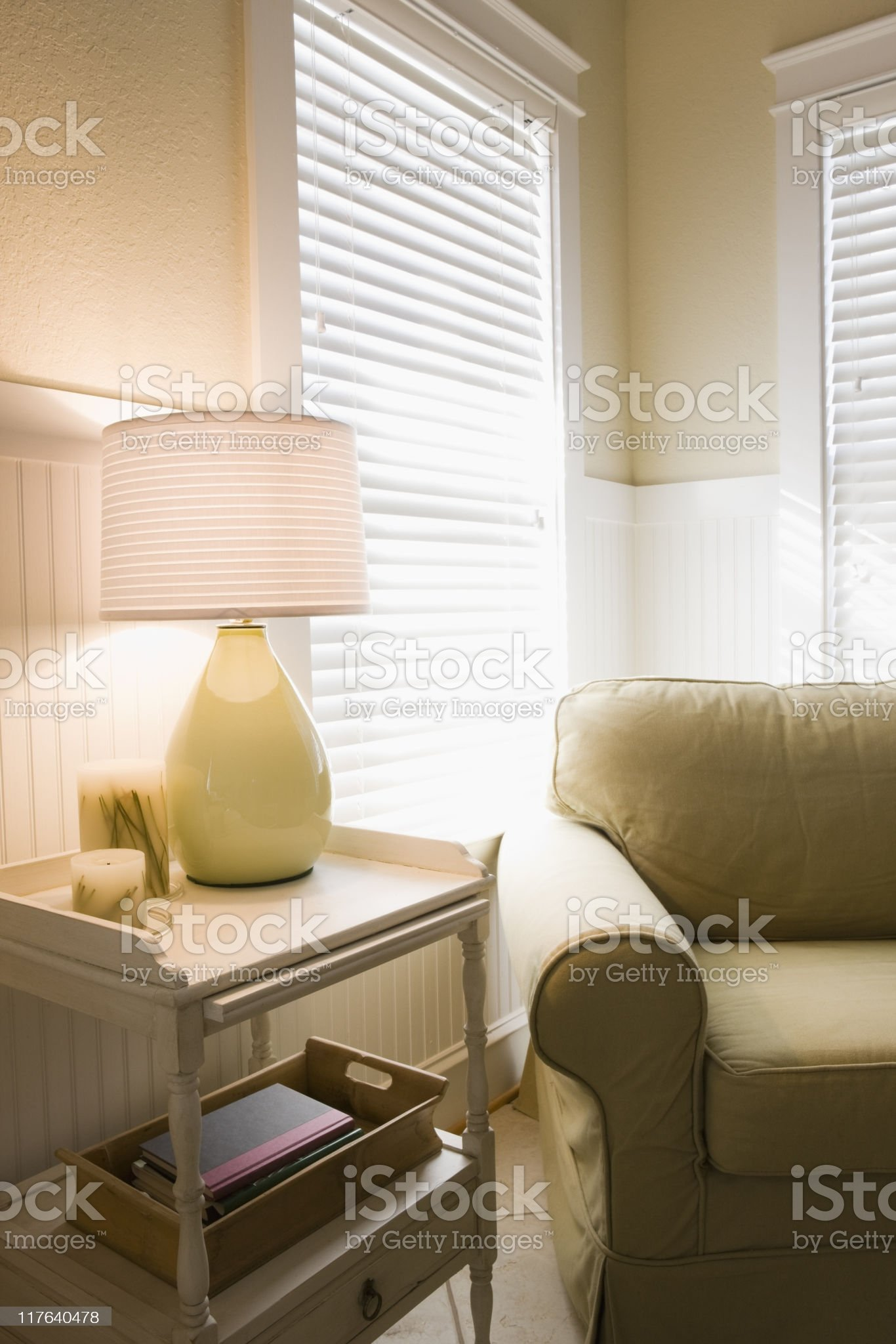 Yellow Home Interior royalty-free stock photo