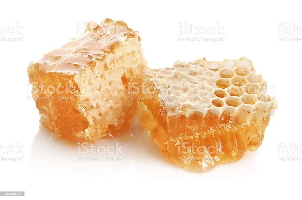 Yellow honey stock photo