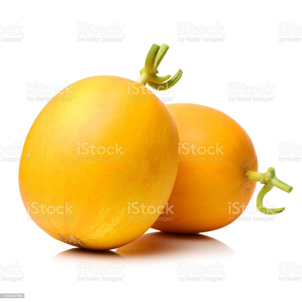 yellow honeydew melons stock photo