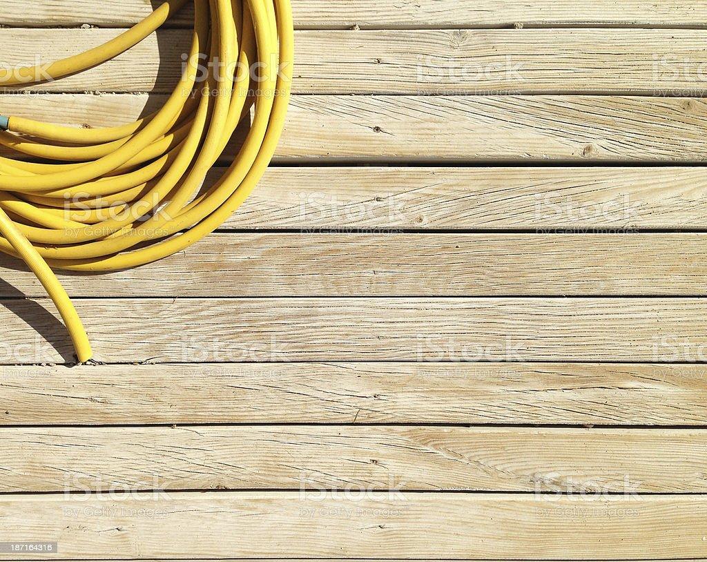 Yellow Hose stock photo