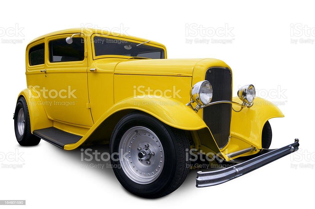 Yellow Hot Rod royalty-free stock photo