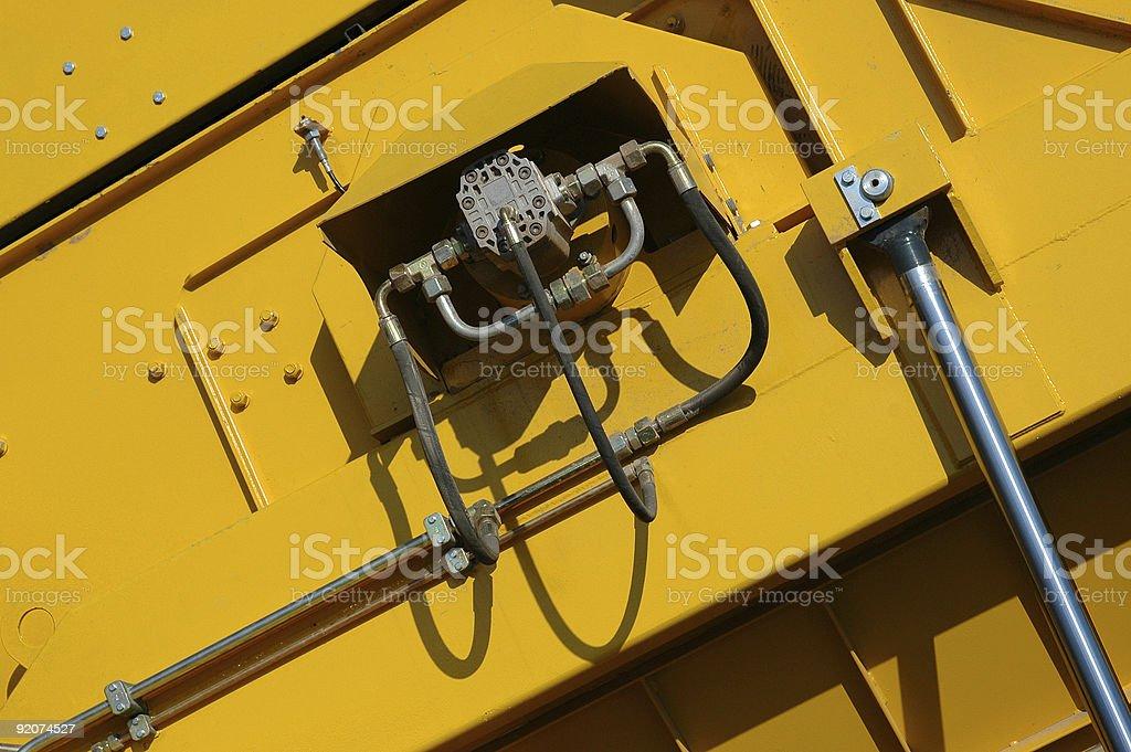 Structure industriel fond jaune photo libre de droits