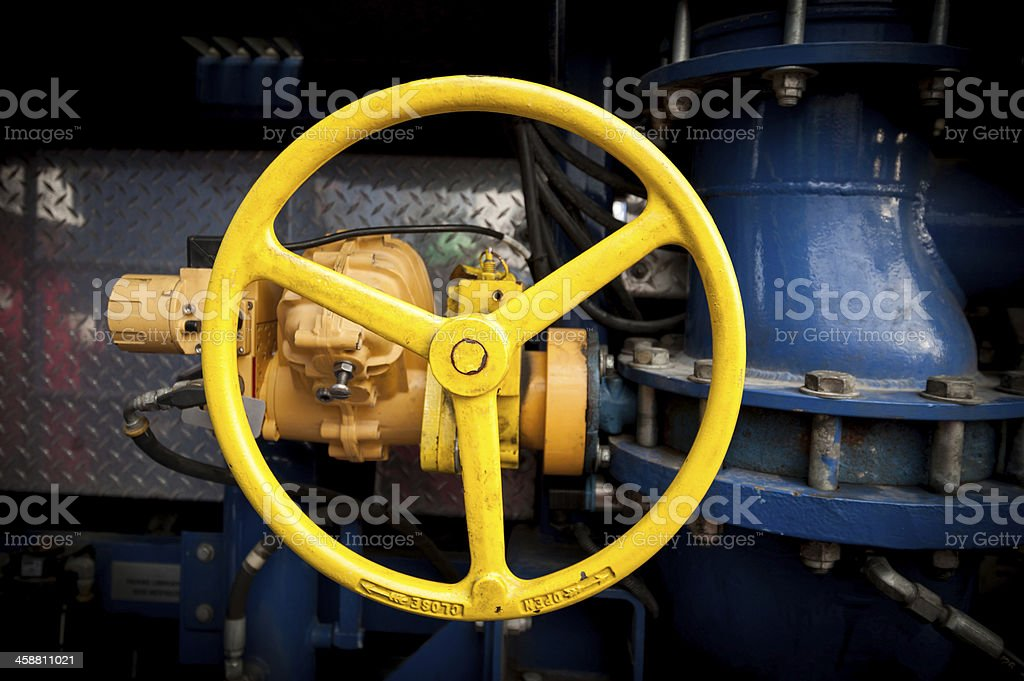 Yellow industrial valve tap royalty-free stock photo