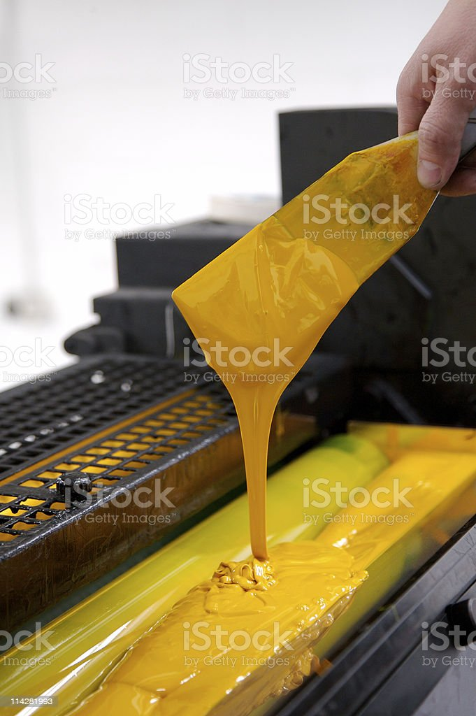 Yellow Ink Knife... stock photo