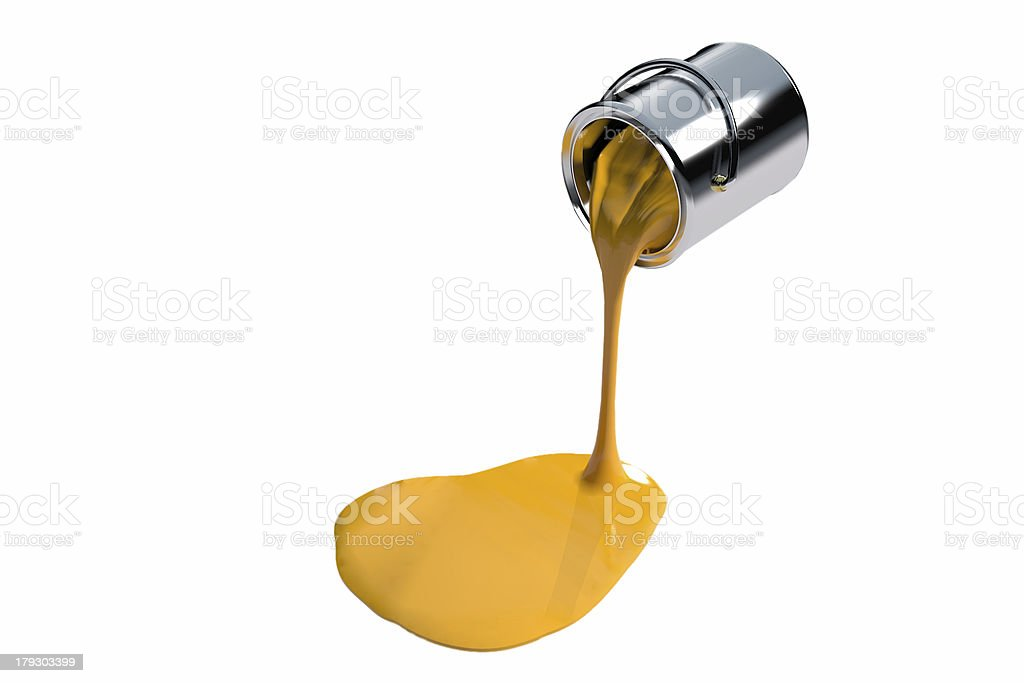 Yellow Ink (3D) stock photo