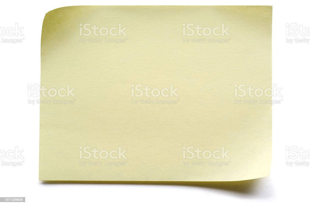 Yellow isolated Post-it Note royalty-free stock photo