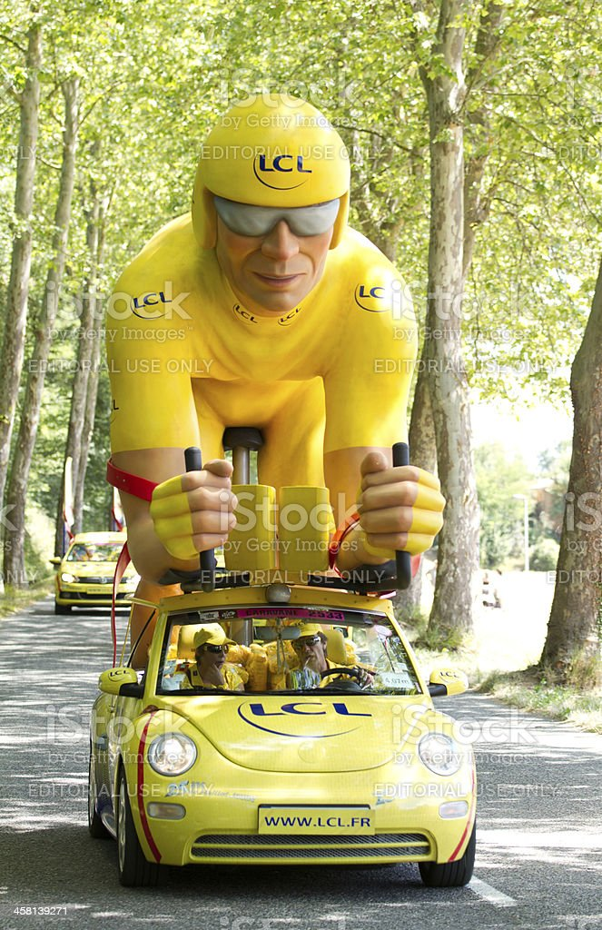 Yellow jersey Car royalty-free stock photo