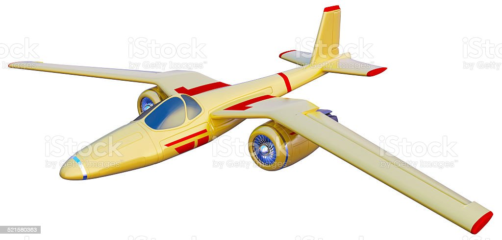 yellow jet airplane stock photo