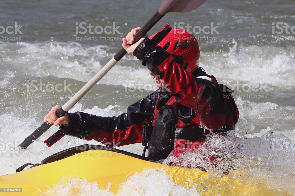 Yellow Kayak royalty-free stock photo
