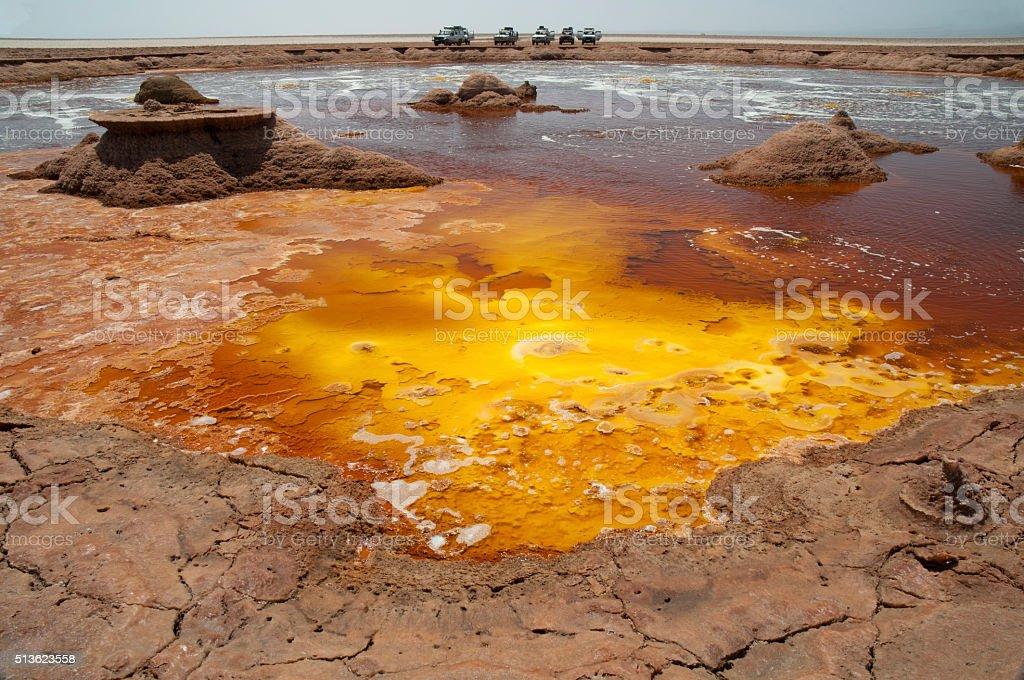 Yellow Lake stock photo