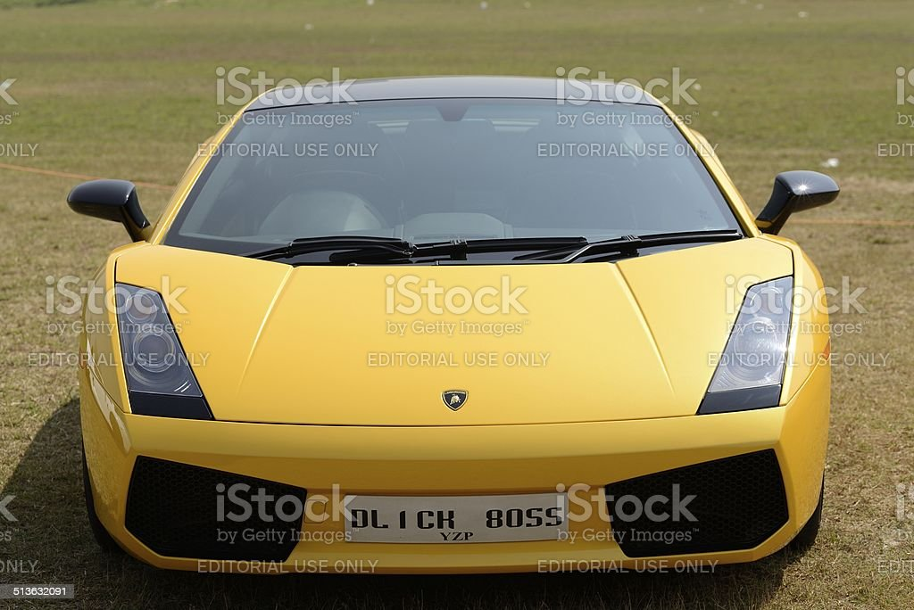 Yellow Lamborghini Gallardo stock photo