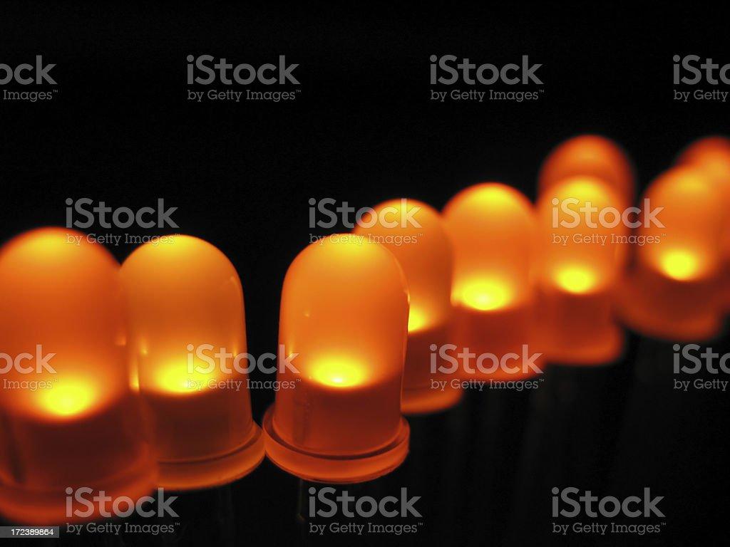 Yellow LED royalty-free stock photo
